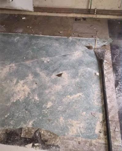 Asbestos Floor Tile Removal & White Sealant