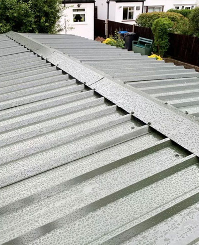 New boxed profile roof
