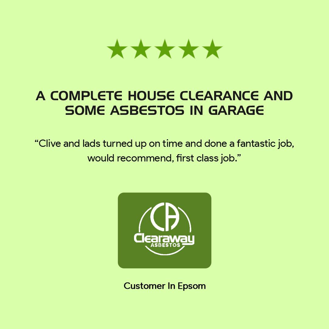 garage clearance testimonial