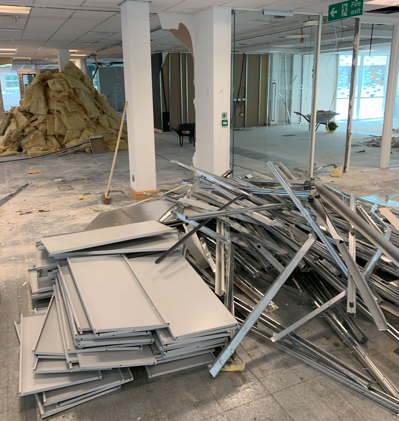 building demolition service in sutton